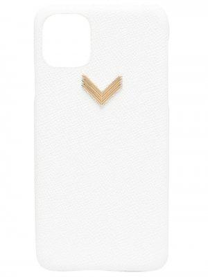Чехол для iPhone 11/11 Pro с логотипом Manokhi. Цвет: белый