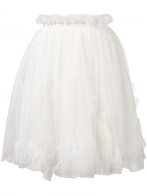Расклешенная мини-юбка Ermanno Scervino. Цвет: белый