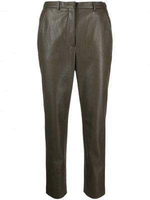 Укороченные брюки Incotex. Цвет: зеленый