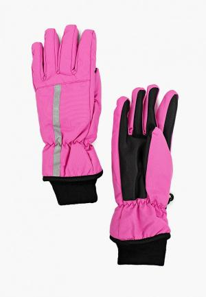 Перчатки Button Blue. Цвет: розовый