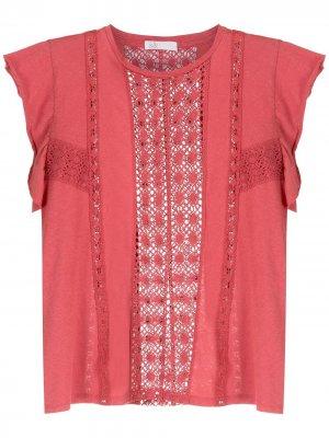 Блузка с кружевными вставками Nk. Цвет: красный