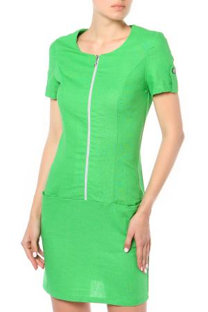 Платье May Be. Цвет: зеленый