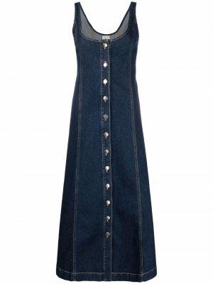 LAutre Chose джинсовое платье миди на пуговицах L'Autre. Цвет: синий