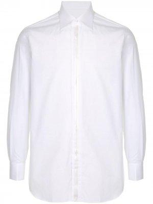 Рубашка с заостренным воротником Brioni. Цвет: белый