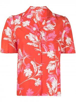 Рубашка с цветочным принтом P.A.R.O.S.H.. Цвет: красный