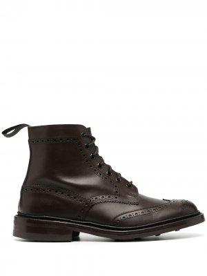 Trickers ботинки с брогированием Tricker's. Цвет: коричневый