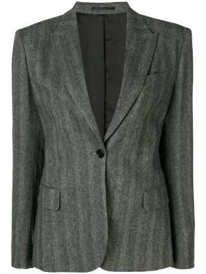Herringbone blazer Filippa-K. Цвет: серый