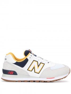 Кроссовки с нашивкой-логотипом New Balance. Цвет: разноцветный