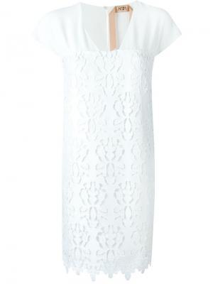 Платье с вышивкой Nº21. Цвет: белый