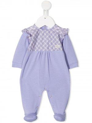 Пижама с оборками Elisabetta Franchi La Mia Bambina. Цвет: фиолетовый