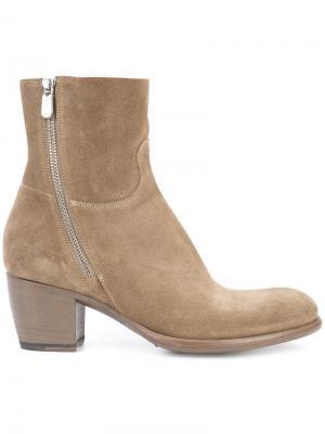 Ботинки на молнии сбоку Rocco P.. Цвет: коричневый
