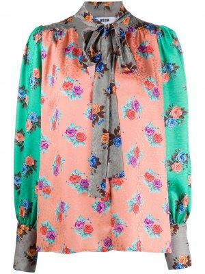 Блузка с принтом MSGM. Цвет: зеленый