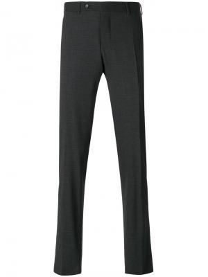 Классические брюки Canali. Цвет: серый