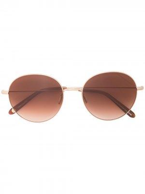 Солнцезащитные очки Valencia в круглой оправе Garrett Leight. Цвет: коричневый