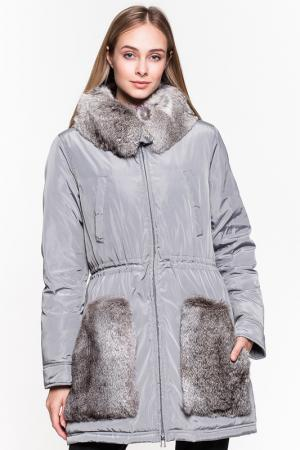 Пальто ODRI MIO. Цвет: серый