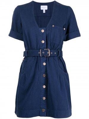 Платье мини Bronte с поясом Alice McCall. Цвет: синий