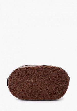 Сумка поясная Ors Oro. Цвет: коричневый