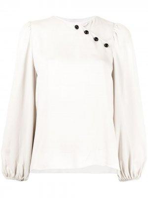 Блузка асимметричного кроя Giorgio Armani. Цвет: серый