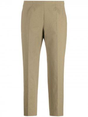 Укороченные брюки прямого кроя Piazza Sempione. Цвет: зеленый
