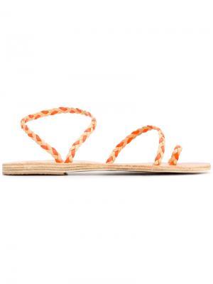 Босоножки Eleftheria с косичками Ancient Greek Sandals. Цвет: нейтральные цвета