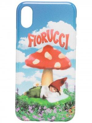 Чехол для iPhone X/XS с принтом Fiorucci. Цвет: синий