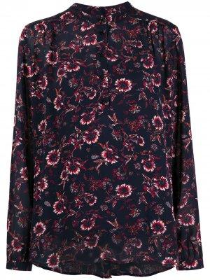 Блузка на пуговицах с цветочным принтом Tommy Hilfiger. Цвет: синий