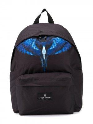 Рюкзак с логотипом Marcelo Burlon County Of Milan Kids. Цвет: черный