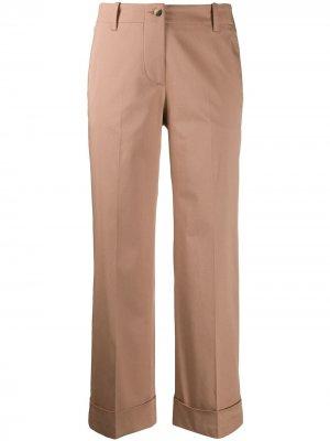 Укороченные брюки с подворотами Alberto Biani. Цвет: коричневый