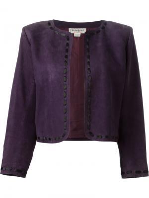 Укороченный пиджак Yves Saint Laurent Pre-Owned. Цвет: фиолетовый