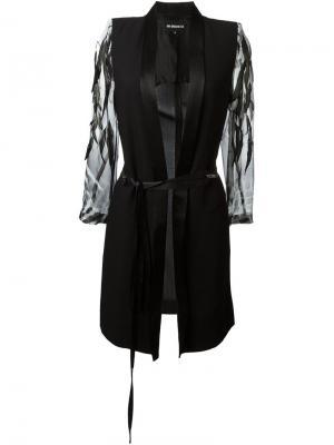 Летнее декорированное пальто Ann Demeulemeester. Цвет: чёрный