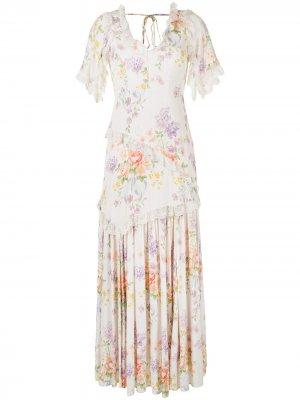 Платье макси с цветочным принтом Needle & Thread. Цвет: разноцветный