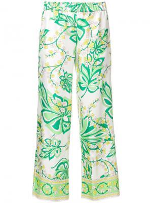 Укороченные пижамные брюки P.A.R.O.S.H.. Цвет: белый