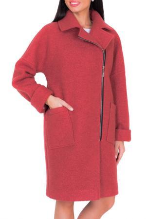 Пальто Argent. Цвет: красный