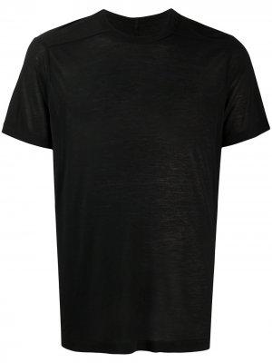 Однотонная футболка Rick Owens. Цвет: черный