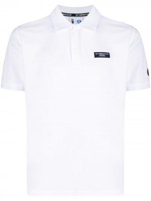Рубашка поло с короткими рукавами и логотипом North Sails. Цвет: белый