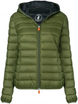 Утепленная куртка Save The Duck. Цвет: зеленый