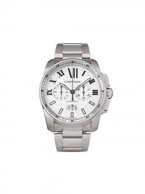 Наручные часы Calibre Chronograph pre-owned 42 мм 2012-го года Cartier. Цвет: серебристый