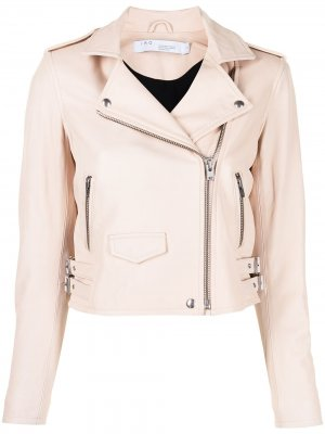 Куртка с косой молнией IRO. Цвет: розовый