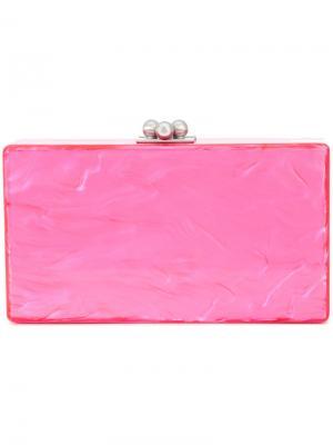 Клатч-бокс прямоугольной формы Edie Parker. Цвет: розовый