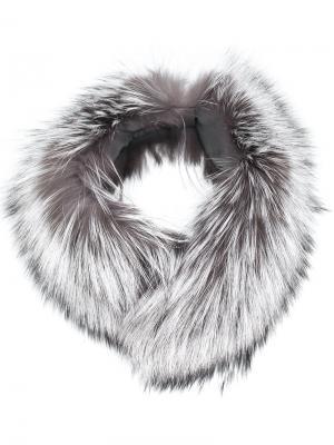 Воротник из лисьего меха N.Peal. Цвет: серый