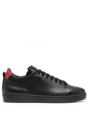 Кроссовки на шнуровке Kiton. Цвет: черный