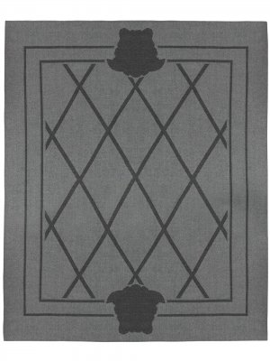 Двусторонний плед Shadov Versace Home. Цвет: серый