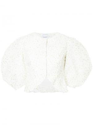 Структурированный пиджак Confetti Bambah. Цвет: белый