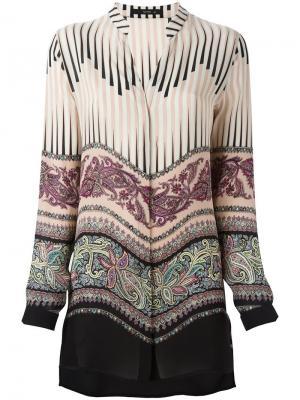 Блузка со смешанным принтом Etro. Цвет: нейтральные цвета