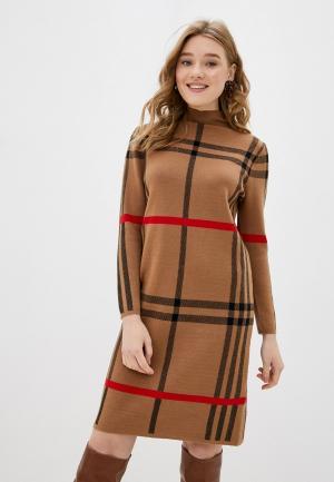 Платье Tantra. Цвет: коричневый