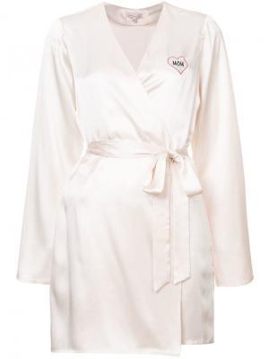 Халат с запахом и вышивкой Mom Morgan Lane. Цвет: розовый