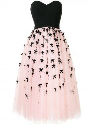 Длинное платье без бретелей Carolina Herrera. Цвет: розовый