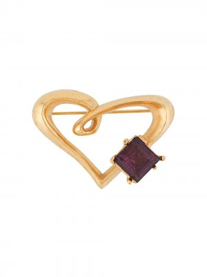 Брошь в виде сердца с кристаллом Christian Lacroix Pre-Owned. Цвет: золотистый