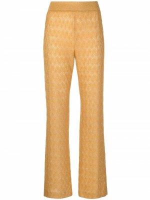 Расклешенные брюки Missoni. Цвет: золотистый