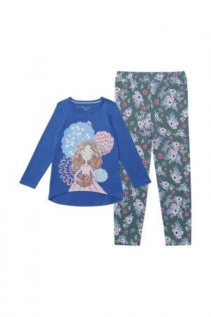 Комплект: джемпер, брюки Kogankids. Цвет: синий